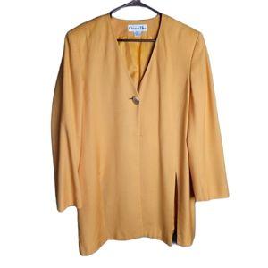 Christian Dior Vintage Shoulder Pad Yellow Jacket